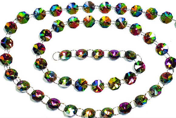 Vitrail Rainbow Yard Chandelier Crystals Garland - Ring Connectors - ChandelierDesign