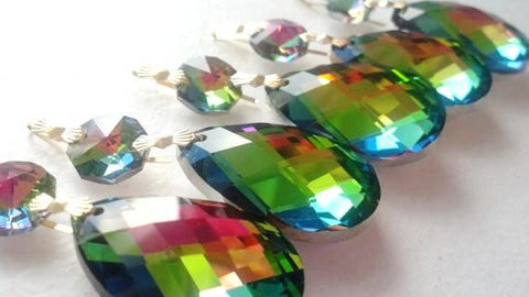 38mm Vitrail Rainbow Diamond Cut Teardrop Chandelier Crystal Ornament Prism - ChandelierDesign