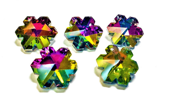 Vitrail Rainbow Snowflake Chandelier Crystals, 20mm Pendants Pack of 5 - ChandelierDesign