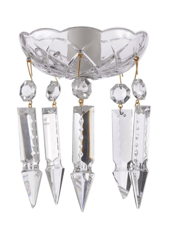 Clear Crystal Bobeche with 76mm Spears Crystals for Chandelier - ChandelierDesign