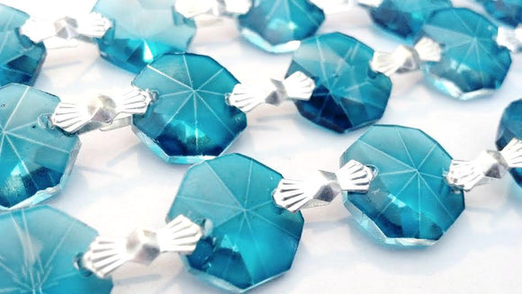 Zircon Blue Chandelier Crystal Garland Yard of Prisms - ChandelierDesign
