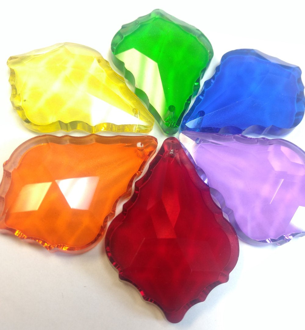 rainbow colors crystal prisms