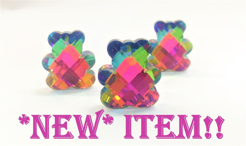 multicolor teddy bear crystal pendants for chandelier and jewelry making
