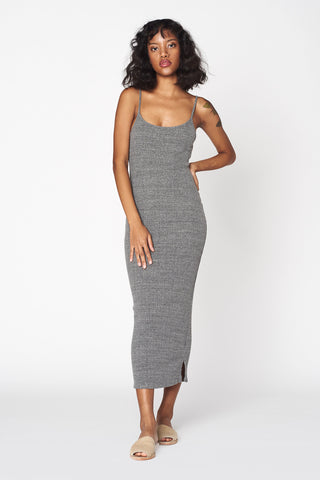 Heather Ribbed Midi