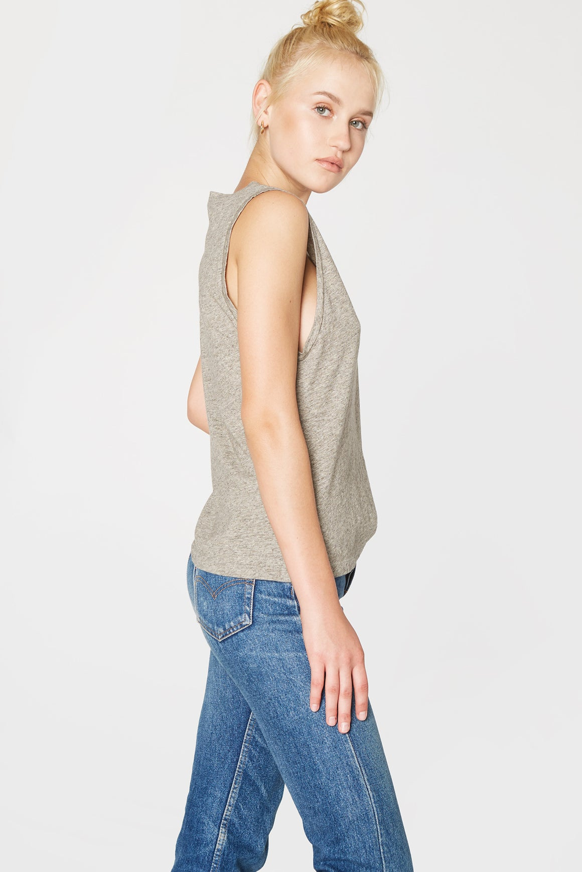 Heather Grey Muscle Tee