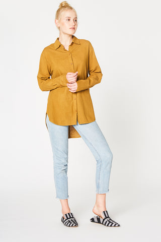 Cotton Noil Button Up