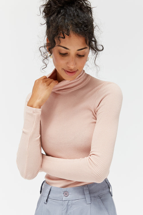 Sweater Rib Turtleneck