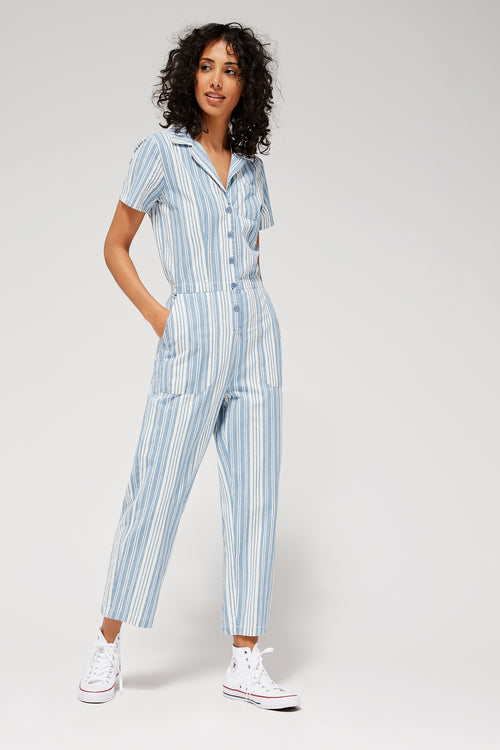 Indigo Striped Montana Jumpsuit