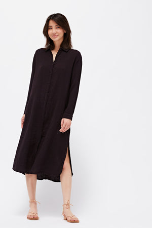 Soft Gauze Shirtdress