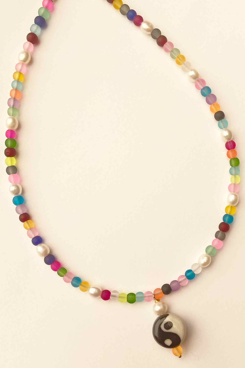Yin Yang Rainbow Necklace