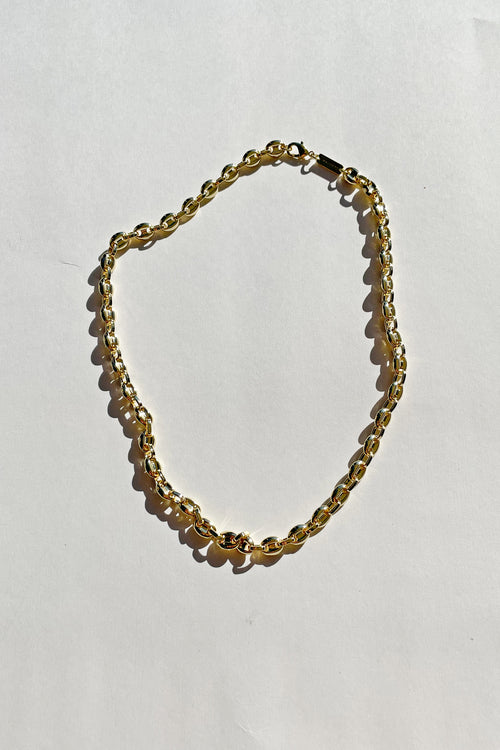 Gold Coffee Bead Necklace