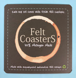 WHOLESALE Chunky Felt Coasters - Sets of 4