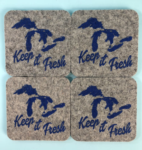 Chunky Felt Coasters - Sets of 4