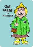 """Old Maid in Michigan"" Playing Cards"