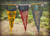 Wholesale Nostalgic Michigan Felt Pennants