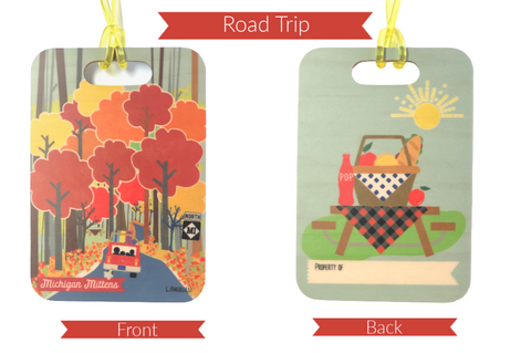 Maple Wood Luggage Tags