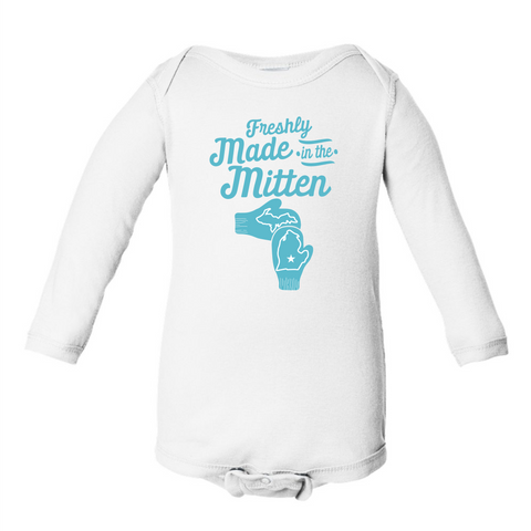 Wholesale Freshly Made in the Mitten Baby Onesie