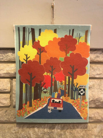 Michigan Themed Art Print on Linen