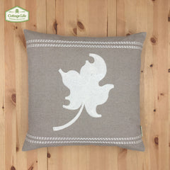 !!!   New !!! Cottage Life Icons - SKU: CI1818JS01 - Embroidery Maple Leaf - Color Ivory White