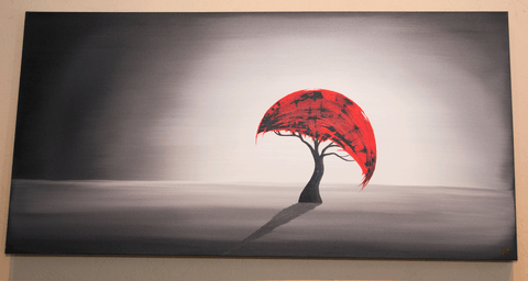 Crescent Red Tree