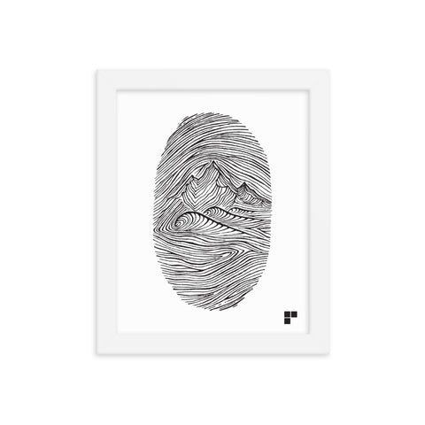 Fingerprint Framed Print