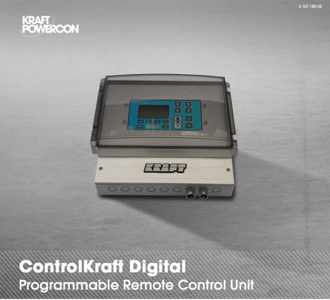 ControlKraft Digital is a programmable remote control unit that can be used with our FlexKraft Rectifiers. Can be run in DC mode or programmable mode.
