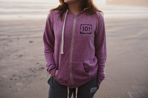 101 Signature Zip in Purple