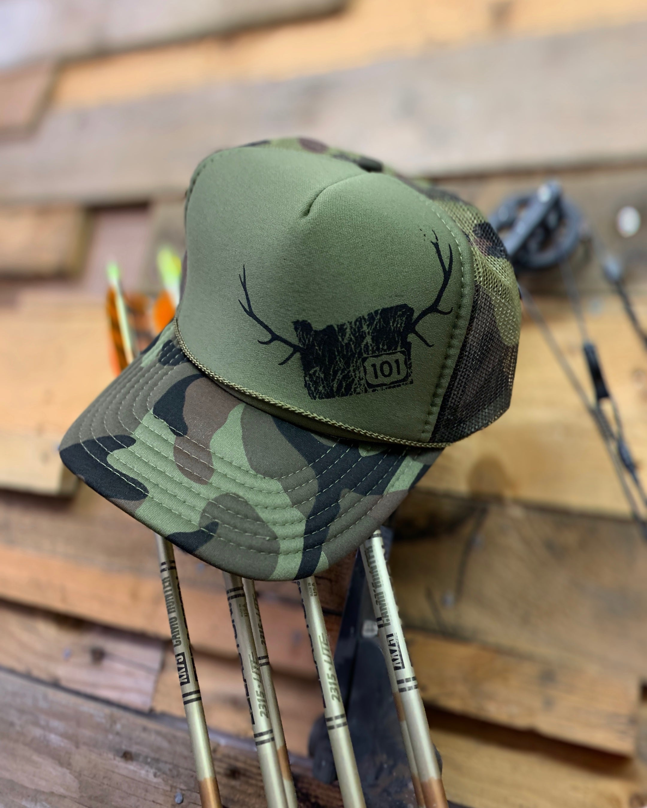 Oregon Elk Camo Trucker Hat