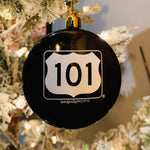 Black Shatterproof Ornament