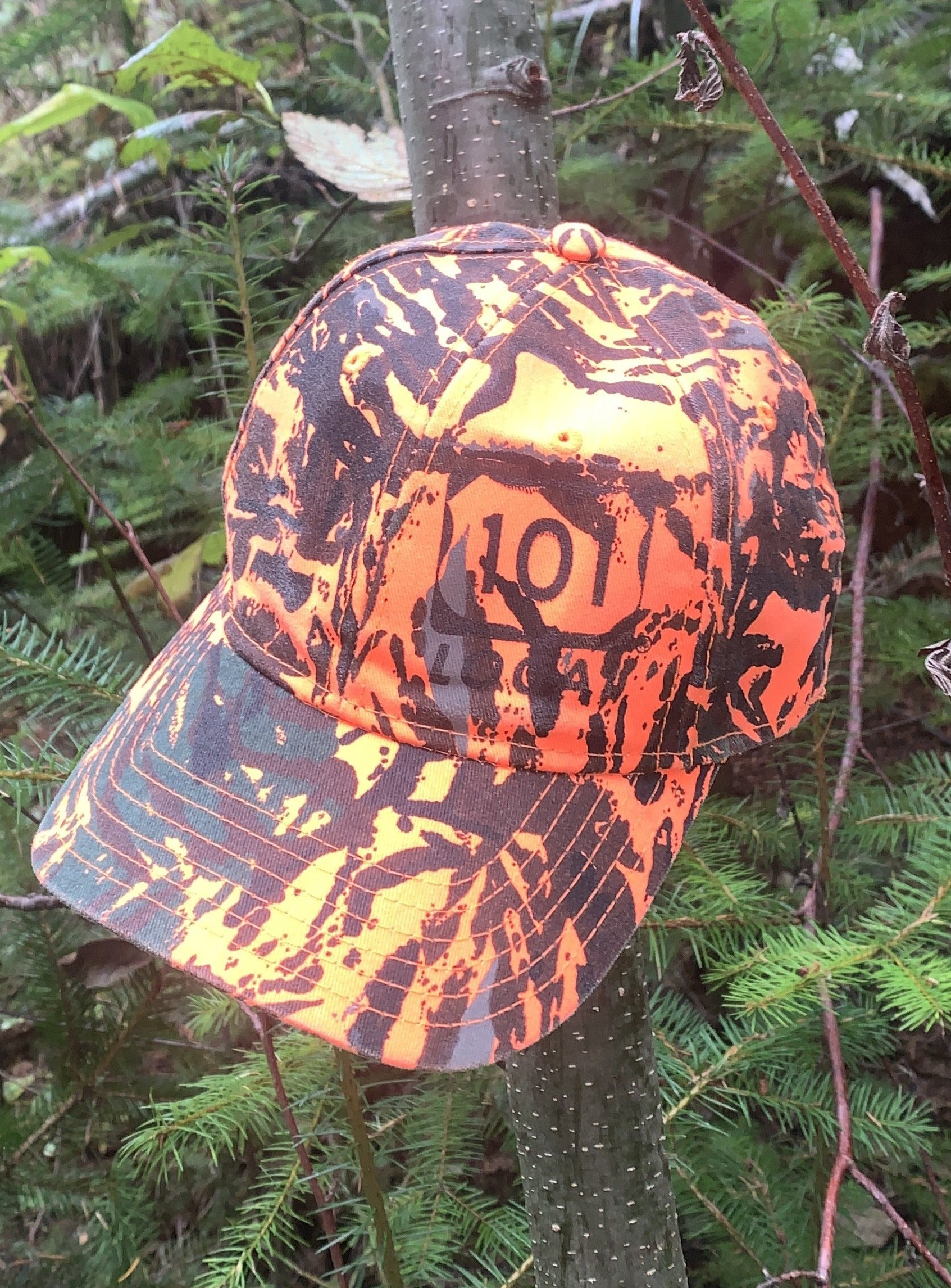 Woods over Waves Hat - Orange Camo