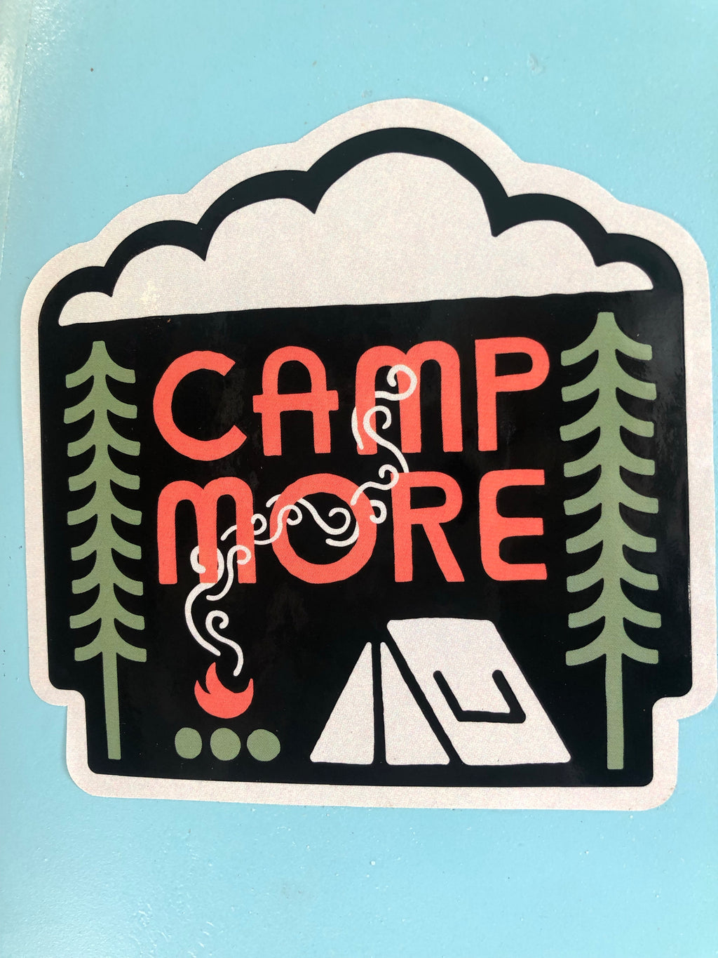 Camp More sticker