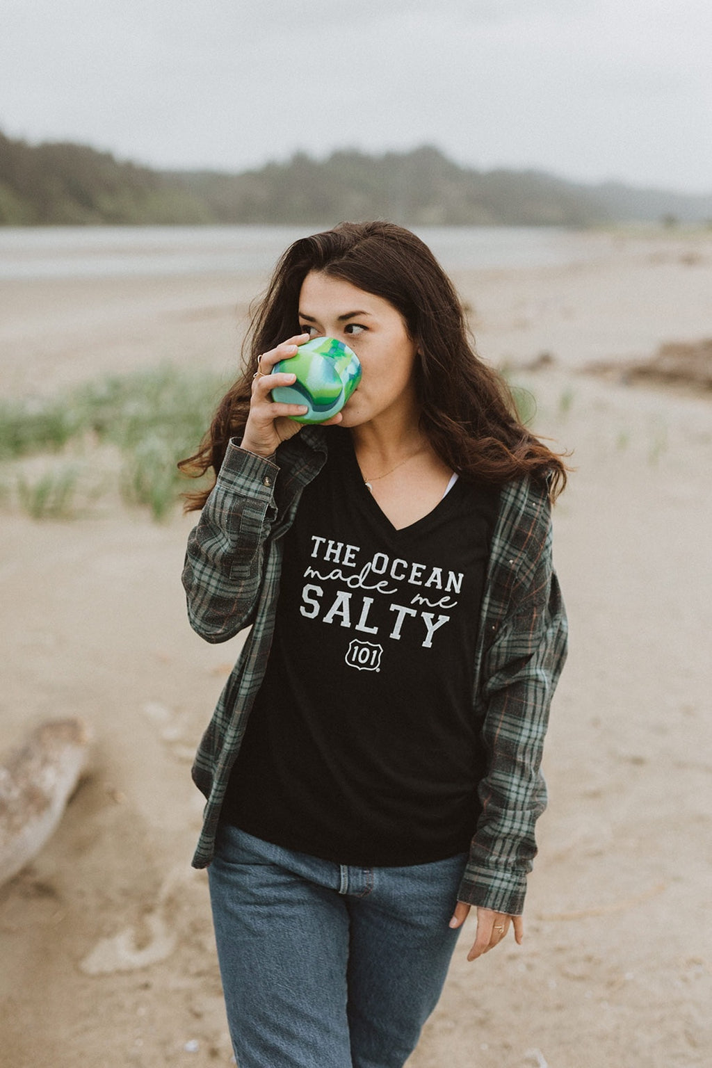 The Ocean Made Me Salty Boyfriend Tee