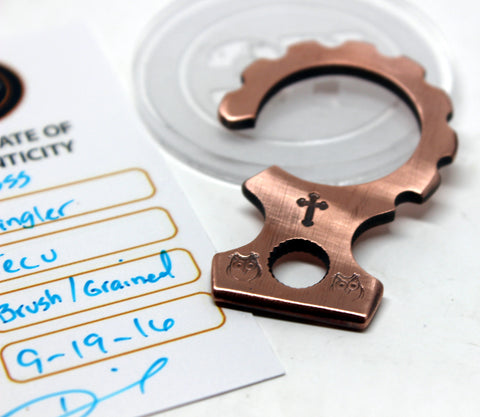 Tellurium Copper key dangler (stamped)