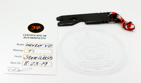 V2 Worker Pry bar 3 inch edc with bottle opener