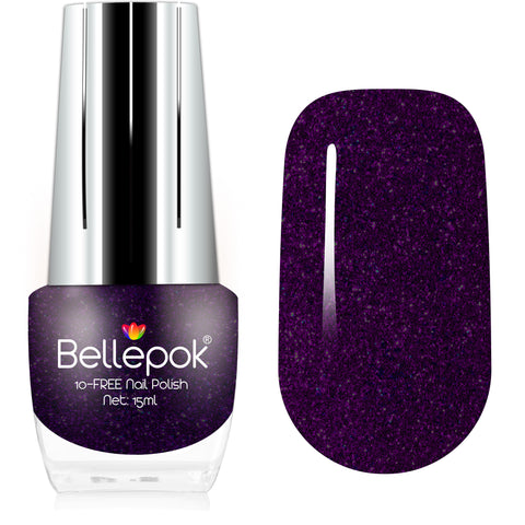 NATURAL NAIL POLISH 10-FREE ECO-FORMULA PURPLE GEM