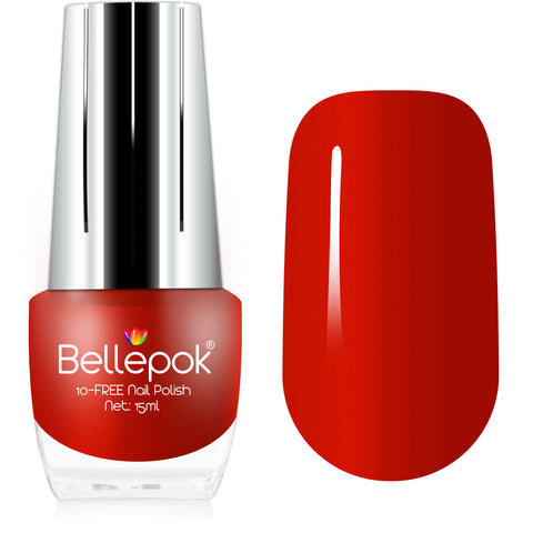 NATURAL NAIL POLISH 10-FREE ECO-FORMULA RED CARMEN
