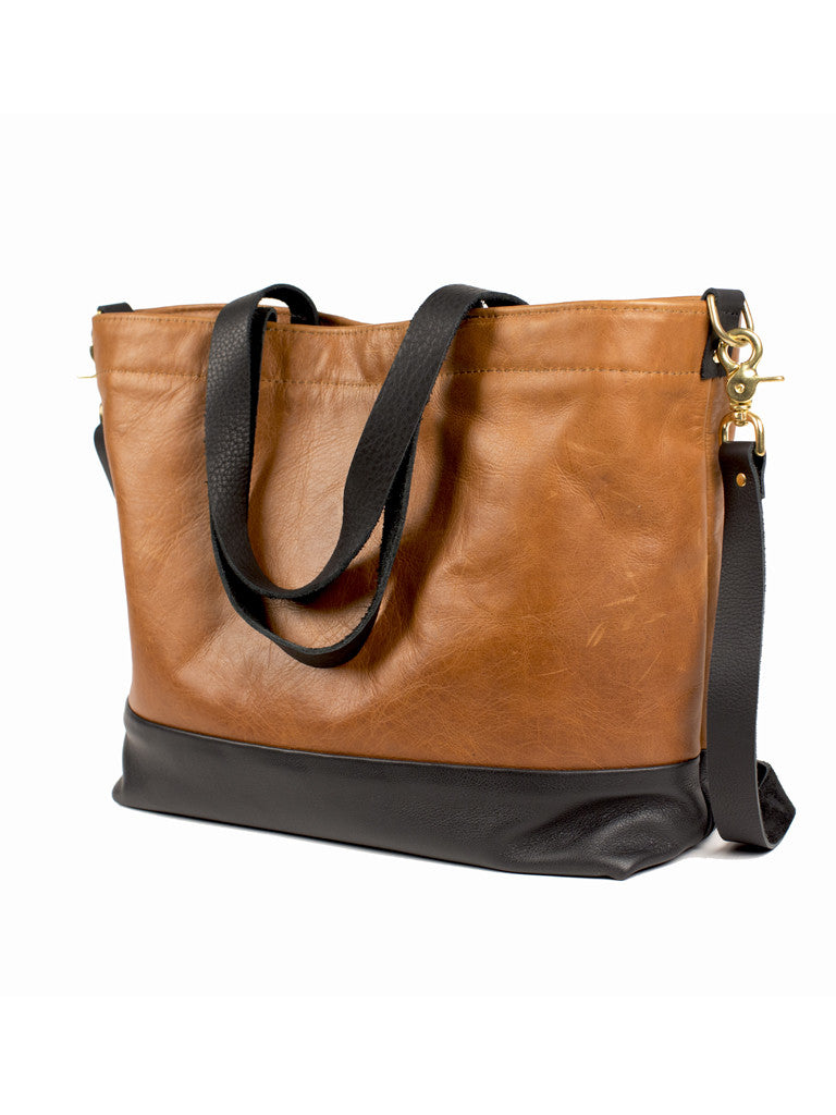 Shia Tote Black & Honey