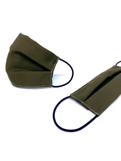 The Eco Cotton Twill Reusable Face Mask - Olive - Rais Case - Image 1