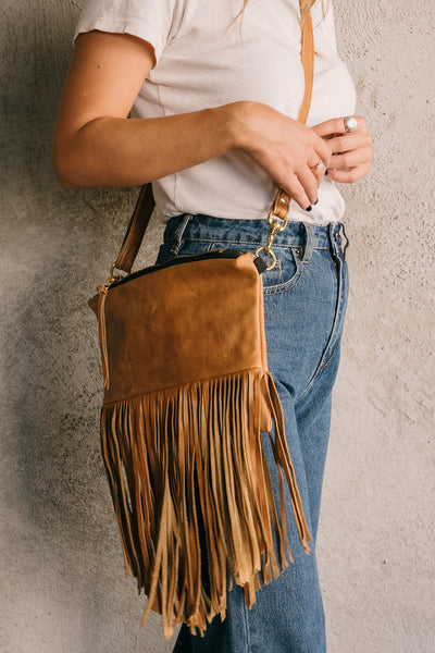 The Vida Crossbody - Koko Double Fringe