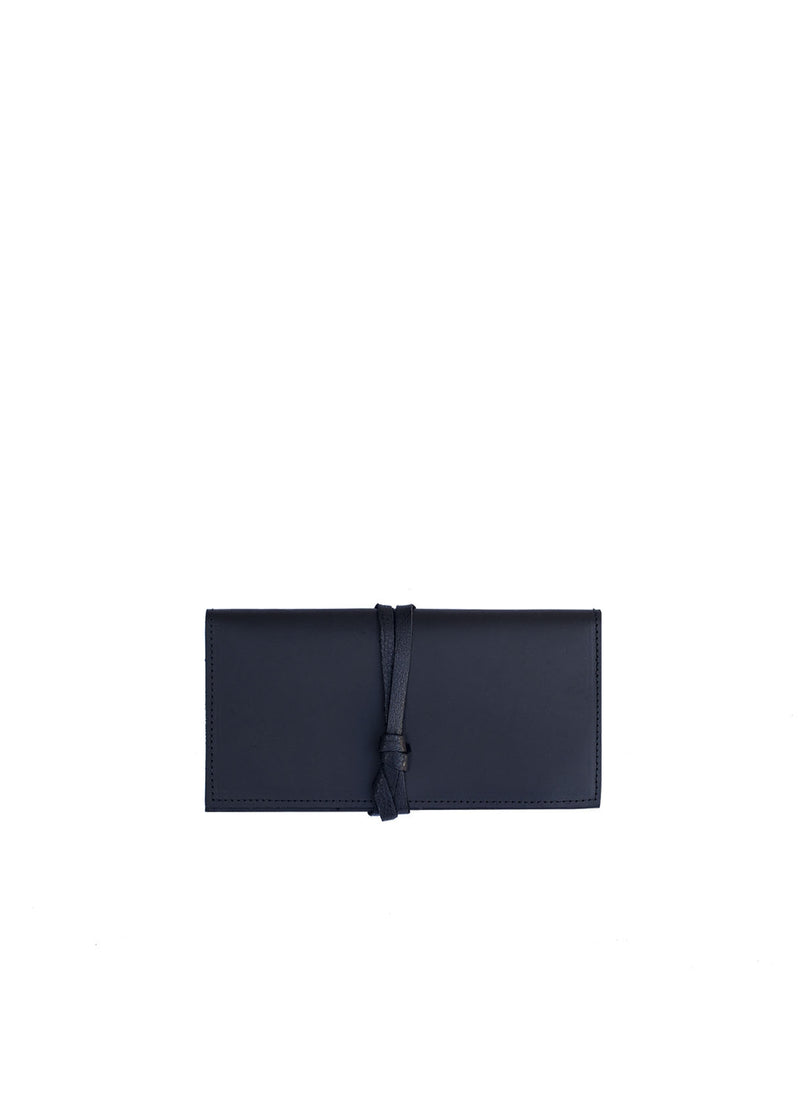Shema Wallet + Clutch, Black Leather