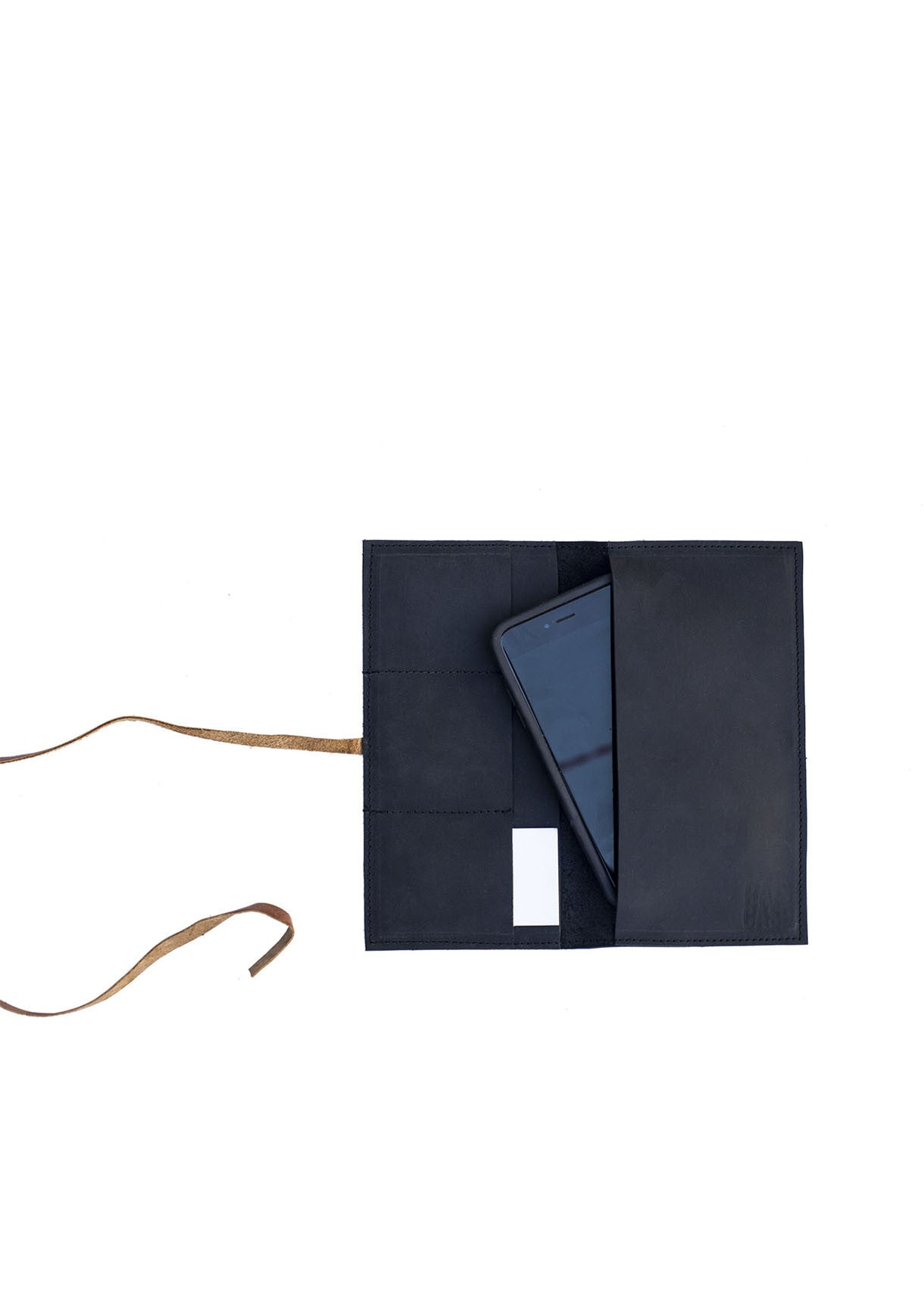 The Shema  Wallet - Black and Honey - Rais Case - Image 1