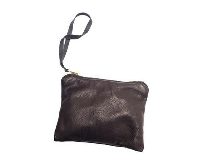 Tam Tam Black Leather Pouch