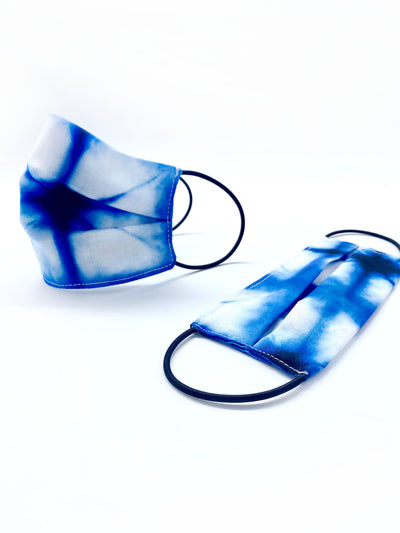 The Cotton Reusable Face Mask  - Inspired Indigo - Rais Case - Image 1