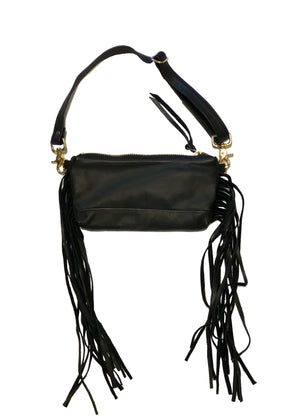 JAX MINI VIDA with side fringe / Fannypack & Clutch