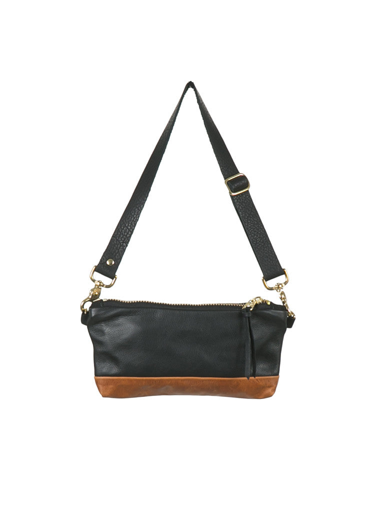 Mini Vida Fannypack Black & Tan