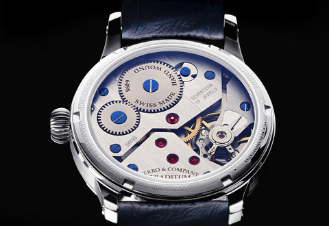 A dress watch with Hand Wound ETA 6498 Movement