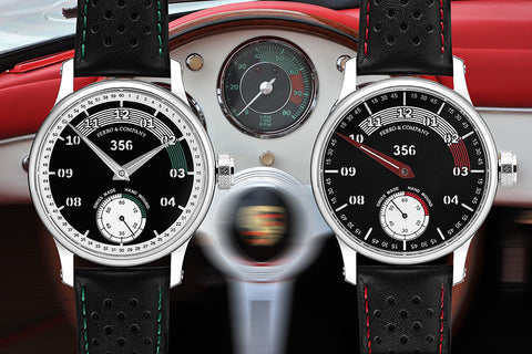 Swiss made hand wound watch inspired by Porsche 356 Speedster