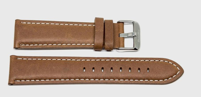 Classic Leather Strap Brown Ferro Watches