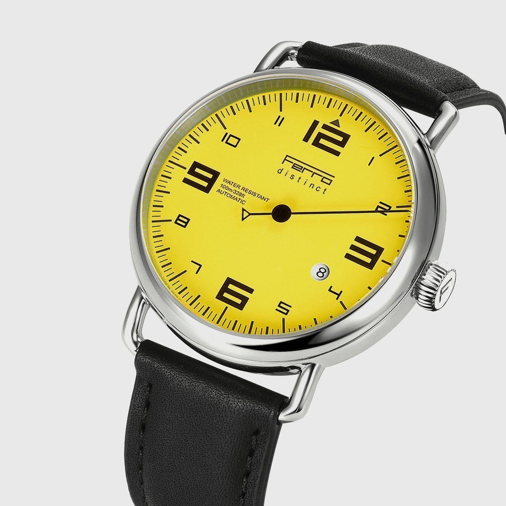 Hand Watch Yellow Dial Automatic Watch Ferrowatches