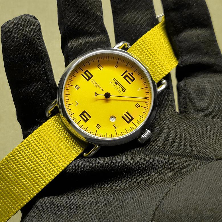 Single Hand Watch Yellow Dial Automatic / Zulu Watch Ferrowatches